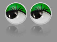 Глаза бегающие 6-8мм  клеевые