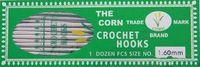 Крючок для вязания односторонний металл 'CORN'