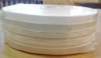 Тесьма шторная 55-60мм прозрачная капрон э.с.