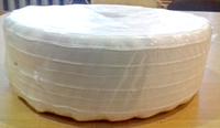 Тесьма шторная 55-60мм белая